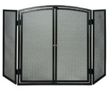 DEV909 - 3 panel screen with doors (black)  - Cat: DEF977909